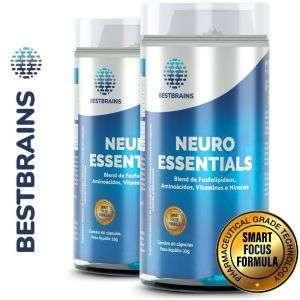 NEUROESSENTIALS KIT 2 Frascos – Ajuda natural para potencialização cerebral, foco e memória
