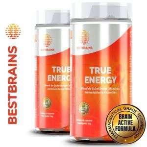True ENERGY KIT 2 Frascos – Ajuda natural para ter mais energia, cérebro ativo e disposição no lazer, esportes e trabalho
