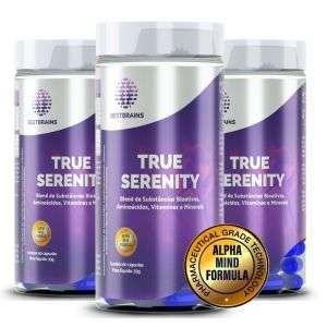 True SERENITY – 3 Frascos. 3 meses de tratamento natural para reduzir a ansiedade, menor stress e sono tranquilo